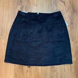 Old Navy Gray Faux Suede Skirt